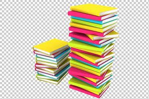 Books - 3D Render PNG