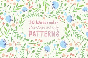 Floral watercolor patterns