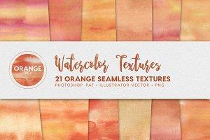 Watercolor Seamless Textures Orange