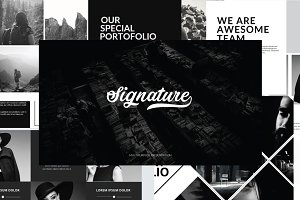 Signature Powerpoint Template