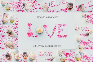Hearts and Cakes-28 Backgrounds