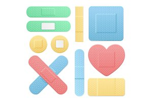 Plaster Medical Patch Color Set