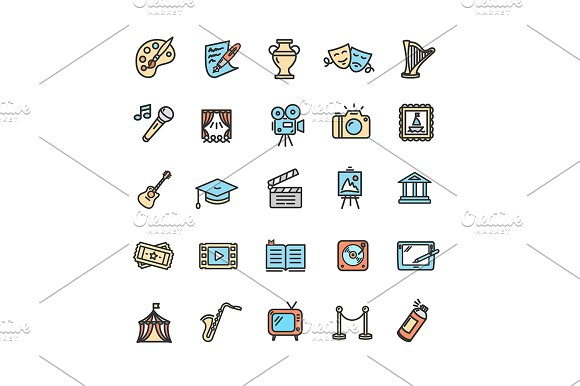 Fine Art Icons Set