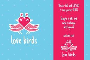 Love Birds- Lovely Logo Design