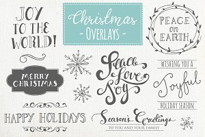 Christmas Overlays Set 1 - Vector