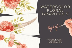 Watercolor Wreaths and Laurels