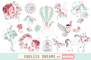 ENDLESS DREAMS clipart