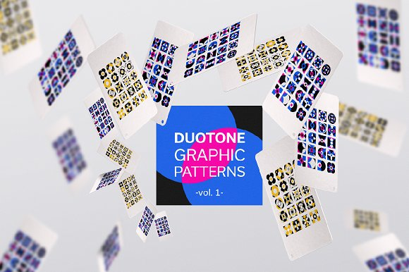 Duotone Graphic Patterns Vol.1