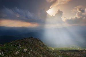 Evening light at mount Pop Ivan
