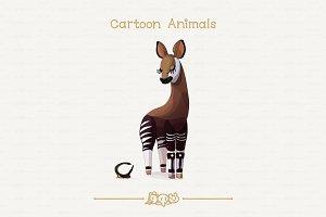♥ vector Okapi & treehopper