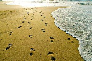 Footprints at the Beach