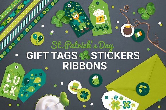 Patrick Gift Tags Stickers Tapes