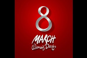 8 March women day, vector.
