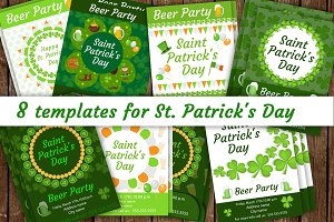 St. Patrick's Day poster, flyer set