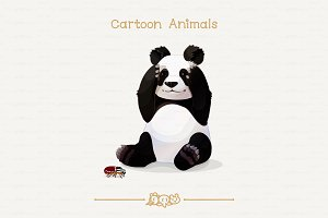 ♥ vector big panda bear & goliathus