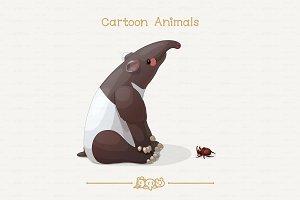 ♥ vector tapir & bug
