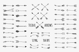 Hand Drawn Tribal Arrows