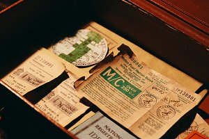 WW2 Rations in an Old Briefcase