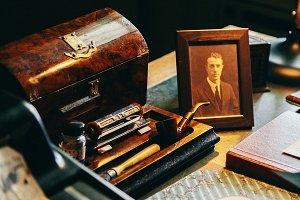 Vintage Desk and Photo