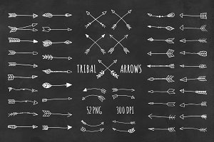Tribal Arrows Hand Drawn Clipart