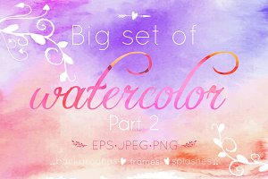 Watercolor big set. Part 2