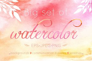 Watercolor big set
