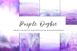 purple ombre watercolor
