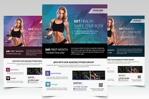 Gym & Health - PSD Flyer Template
