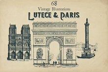 68 Vintage Vectors Lutèce & Paris