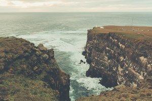 Coastal Landscape in Vintage Colors