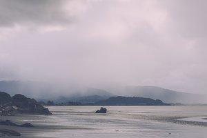 Beautiful Coast Landscape after Rain