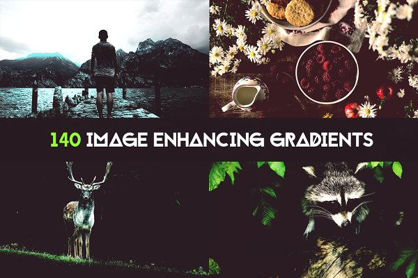 Photoshop Gradients: 89colors - 140 Image enhancing gradients