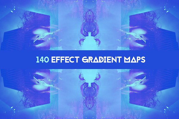 Photoshop Gradients: 89colors - 140 Effects gradient map pack