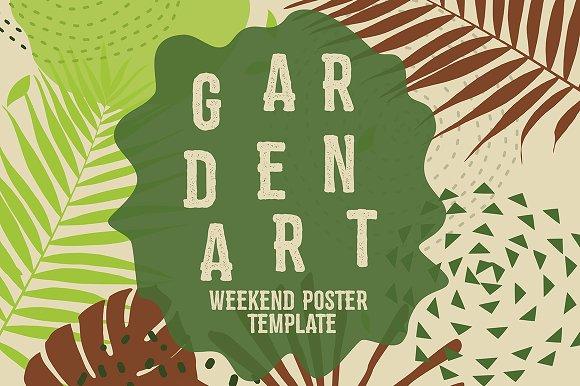 garden art weekend template flyers