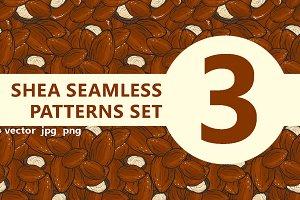 Shea seamless patterns set