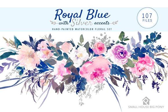 Floral Royal Blue Wedding Background Design Png Best Menu