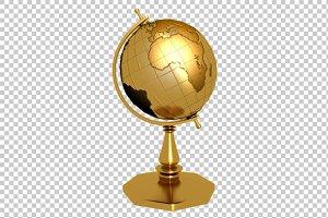 Golden Globe - 3D Render PNG