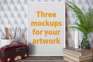 3 poster mockup bundle