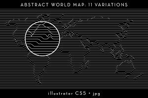 11 Abstract Relief World Maps