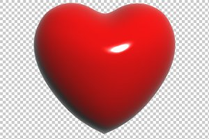Heart - 3D Render PNG