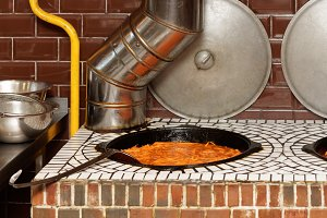 Stationary gas stove