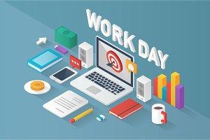 "Isometric ""Work Day"""