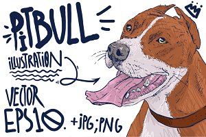 Pitbull illustration.