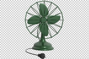 Table Fan - 3D Render PNG