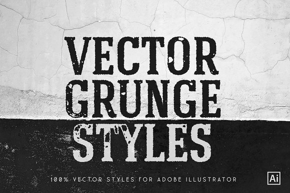 Grunge Vector Styles For Ai