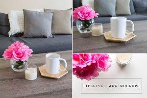 Lifestyle Scene Mug Mockup Bundle