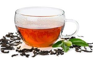 Glass cup tea.