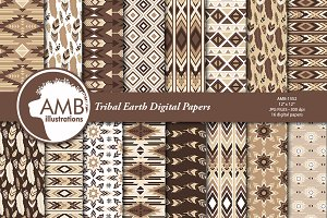 Earth Tribal Feather Papers AMB-1552