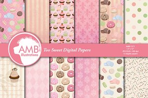 Too Sweet digital Papers AMB-1571
