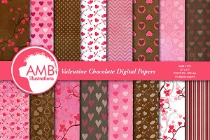 Valentine Grunge  Papers AMB-1575